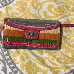 COACH patterned wallet wristlet